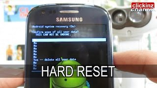 HARD RESET S3 MINI GT-i8190 Samsung Galaxy FACTORY Reset ANDROID FORMATEAR RESETEAR PASSWORD UNLOCK