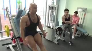 Тренировка ног и груди. Начало массонабора.