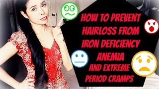 How to Prevent Hair loss & Bruises From Iron Deficiency Anemia, Extreme Period Cramps and Bloating