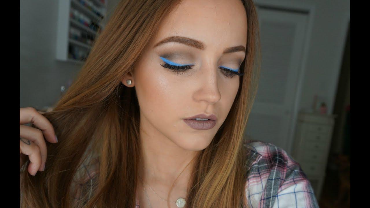 Blue Amp Gray Cool Tones Makeup Look Kat Von D Shade
