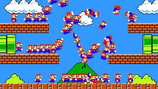 Mario Brothers But with 100 Marios At Once