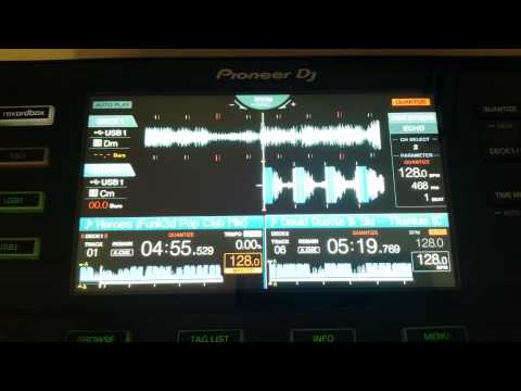 Pioneer XDJ-RX.  A quick look at the screen (waveform)