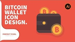 Illustrator Tutorials | Bitcoin Wallet Icon Design