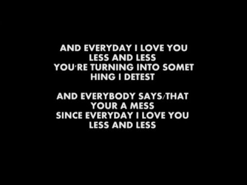 Kaiser Chiefs - Everyday I Love You Less and Less - Instrumental