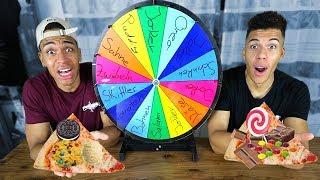 PIZZA ROULETTE CHALLENGE !!! | PrankBrosTV