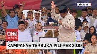 Aksi Prabowo Gebrak-gebrak Meja Saat Kampanye Terbuka di Sleman