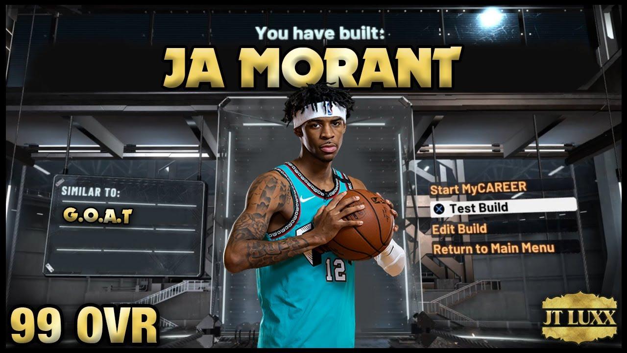 NBA 2K20 Ja Morant Build! - 11 HOF Badges!