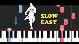 Fortnite Dance - Knee Slapper (SLOW EASY PIANO TUTORIAL)
