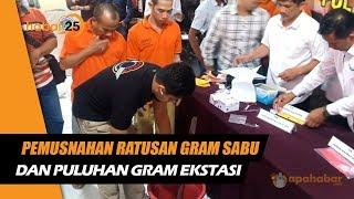 Pemusnahan Ratusan Gram Sabu Dan Puluhan Gram Ekstasi