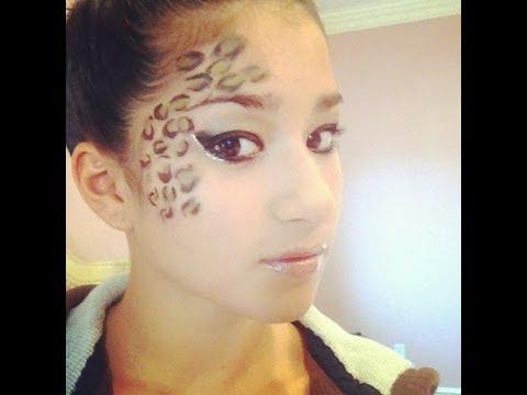 Leopard-Inspired Halloween Makeup - YouTube