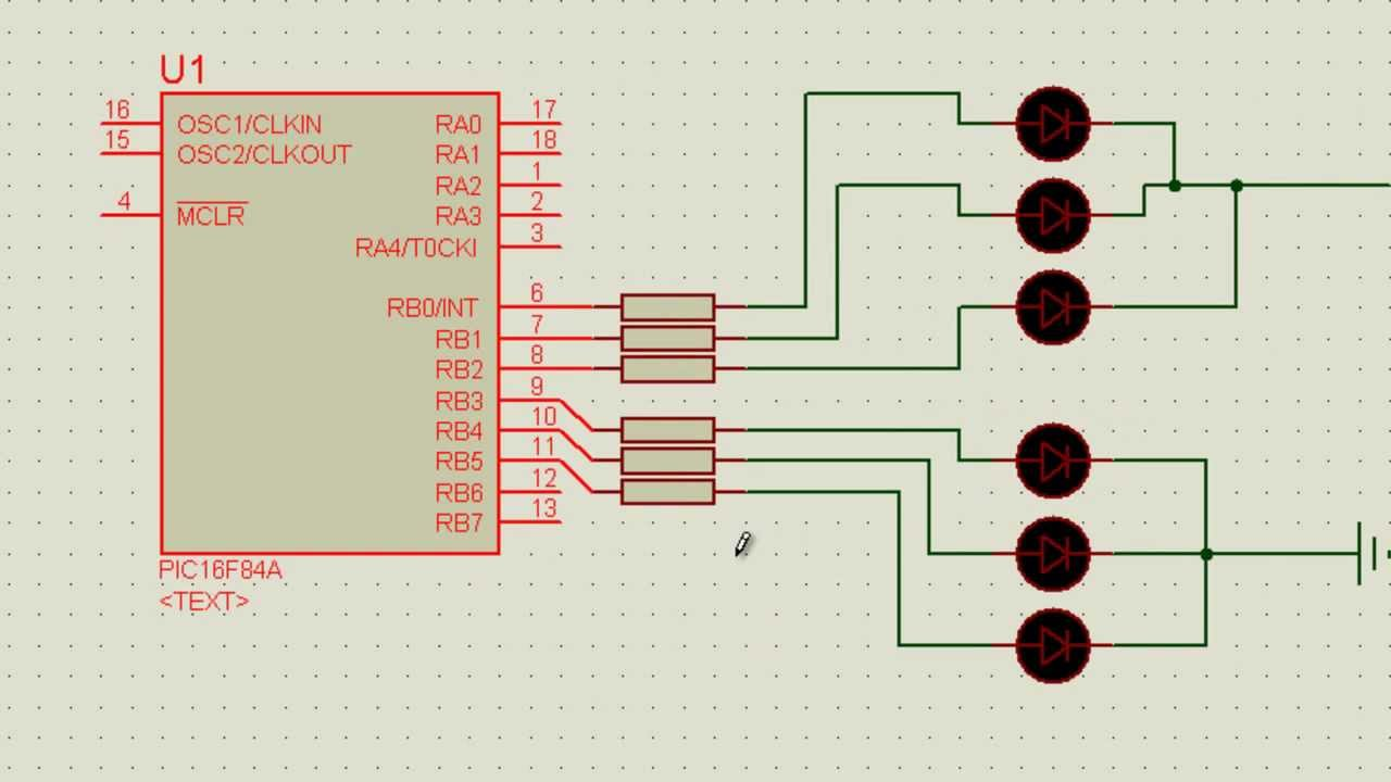 Simulation A Small Traffic Light System Code Included