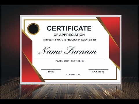 HOW TO MAKE APPRECIATION CERTIFICATE IN CORELDRAW