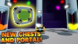 NEW CHESTS AND PORTALS! | Build A Boat For Treasure ROBLOX
