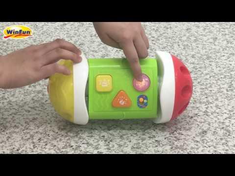 *玟玟*WinFun 0745 3合1音樂爬行滾滾樂,歐盟EN71 / 台灣BSMI 國際玩具安全檢驗