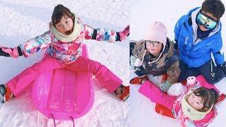 [ V-log]눈썰매장 NG모음 및 라임의 새해 소망 | 대명 비발디파크 스노위랜드 눈썰매장 어린이 체험 LimeTube & johny johny yes papa
