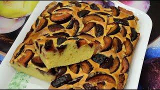 Пирог со сливами./Pie with plums.