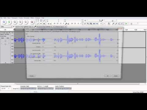 Mass Effect 2: Harbinger Voice Tutorial In Audacity