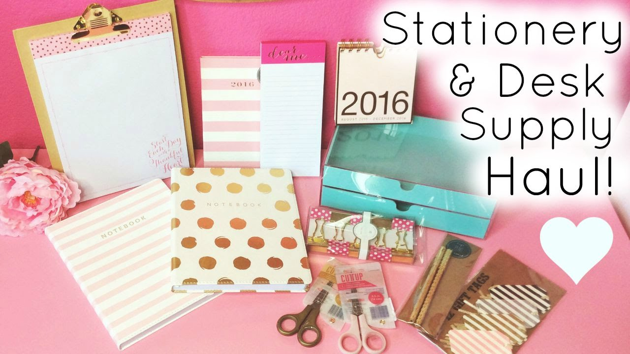 Stationery U0026 Desk Supply Haul ♡ HomeGoods, TJ Maxx, U0026 Target   YouTube