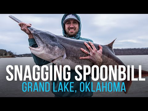 Snagging Spoonbill In Oklahoma (Giant Prehistoric Fish!!)