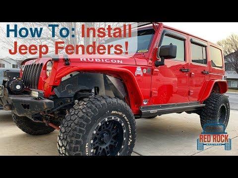 Installing Aluminum Fender Flares on our Jeep Wrangler JK