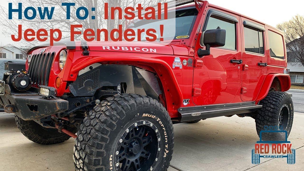 Installing Aluminum Fender Flares On Our Jeep Wrangler Jk Youtube