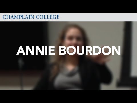 Annie Bourdon: Speaking from Experience