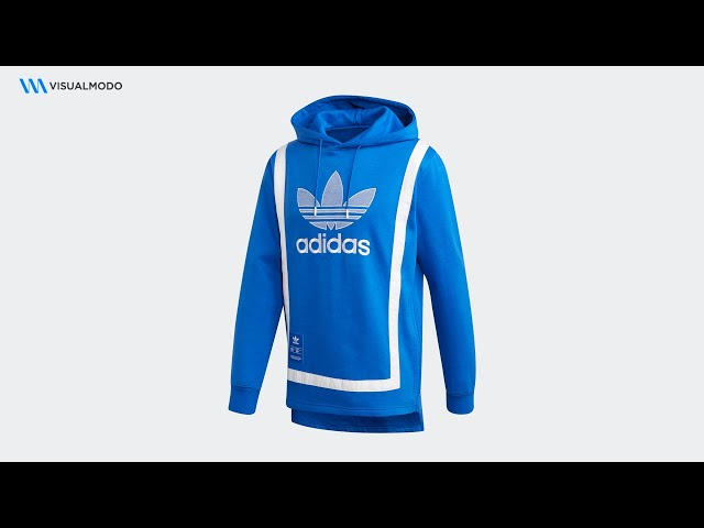 Warm Up Hoodie Blue White Adidas Unboxing