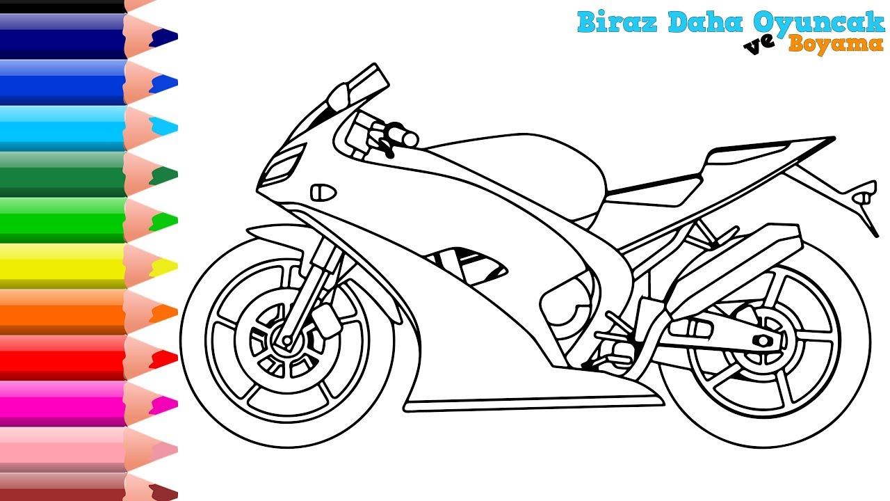 Motosiklet Boyama En Guzel Boyama Videolari Boyarken Renkleri