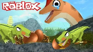 DINOSAURS ATE ALL HER BABIES! | Roblox Roleplay