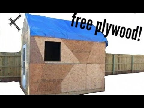 Building A Shed On A Budget Part 5 Plywood Time Youtube