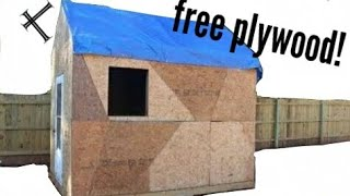 Building A Shed On A Budget!  Part 5  Plywood Time!