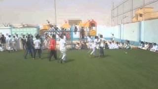 مباراة كرة قدم ضمن فعاليات الاحتفال باليوم الوطني الـ85 بمدارس الرواد / بريدة