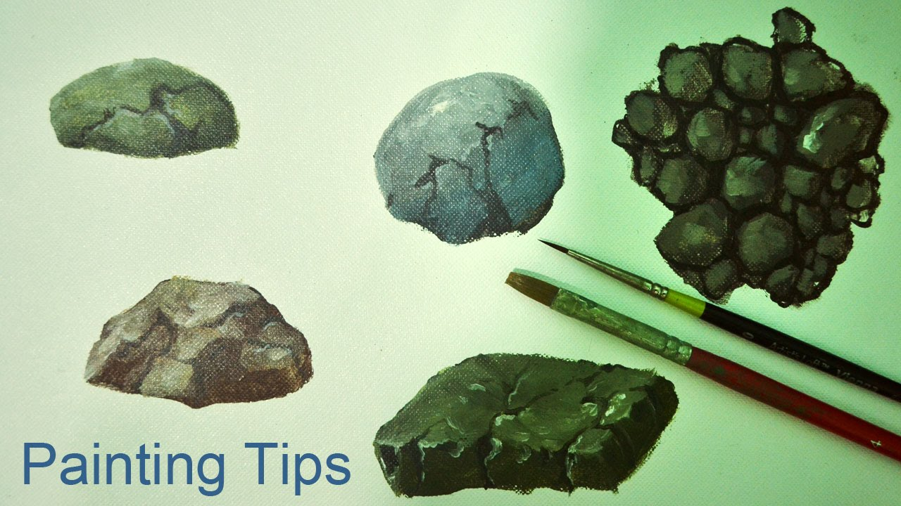 Acrylic Painting Lesson How To Paint Rocks By Jmlisondra