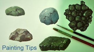 Acrylic Painting Lesson - How to Paint Rocks by JMLisondra
