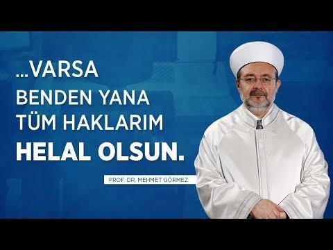 Mehmet Görmez'in Veda Konuşması