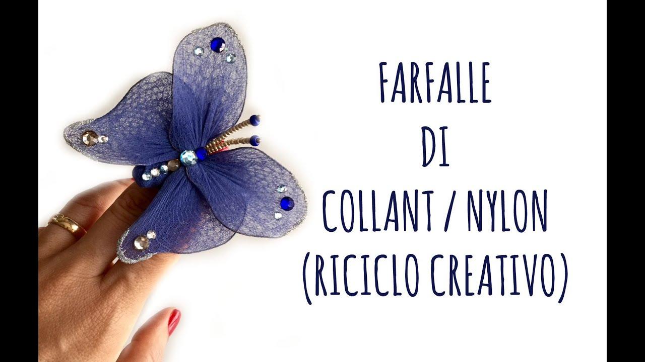 Farfalle Decorative Fai Da Te come fare una farfalla con i collant (riciclo creativo) arte per te