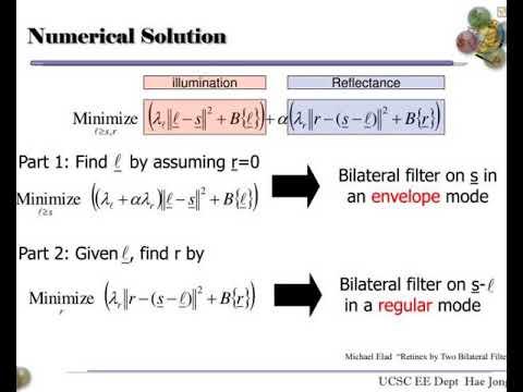 retinex algorithm combined with denoising methods