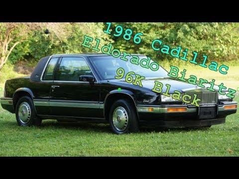 1986 cadillac eldorado biaritz 2 door coupe 96k black youtube 1986 cadillac eldorado biaritz 2 door coupe 96k black
