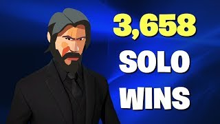 10K Vbucks Giveaway - 3658 Solo Wins! FORTNITE LIVE STREAM