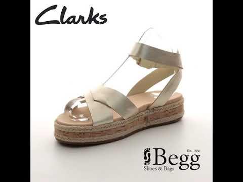 16c6b906d94a Clarks Botanic Poppy D Fit Metallic Flat Sandals - YouTube