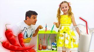 Nastya dan ayah, permainan dan aktivitas dalam ruanganyang menyenangkan