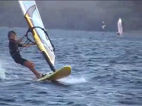 kids windsurfing ALEX HALANK AUS2001 8 years old