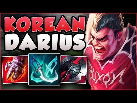 THIS *NEW* DARIUS BUILD THAT'S SWEEPING KOREA IS 100% DUMB! DARIUS TOP GAMEPLAY! - League of Legends