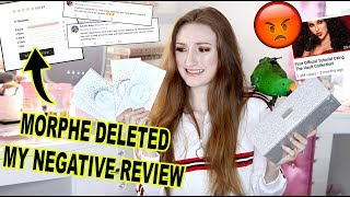 JACLYN HILL X MORPHE VAULT COLLECTION: MORPHE DELETED MY NEGATIVE REVIEW!