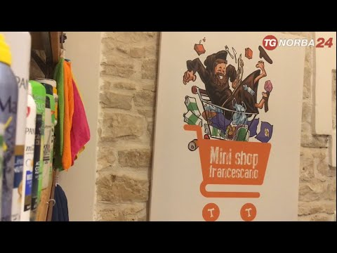 Mini shop francescano, l'emporio solidale dei Frati Minori di Puglia e Molise. Servizio di Telenorba