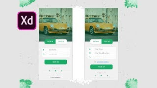 UI Design for Login and Register Screen in Adobe Xd - Speed Art Tutorial