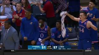 Kansas at West Virginia Men's Basketball Highlights