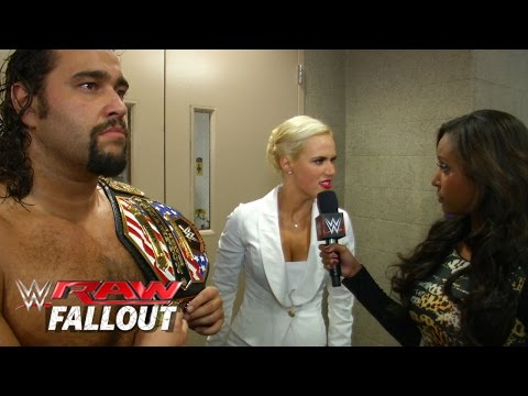 Lana Sees Red - Raw Fallout - November 24, 2014