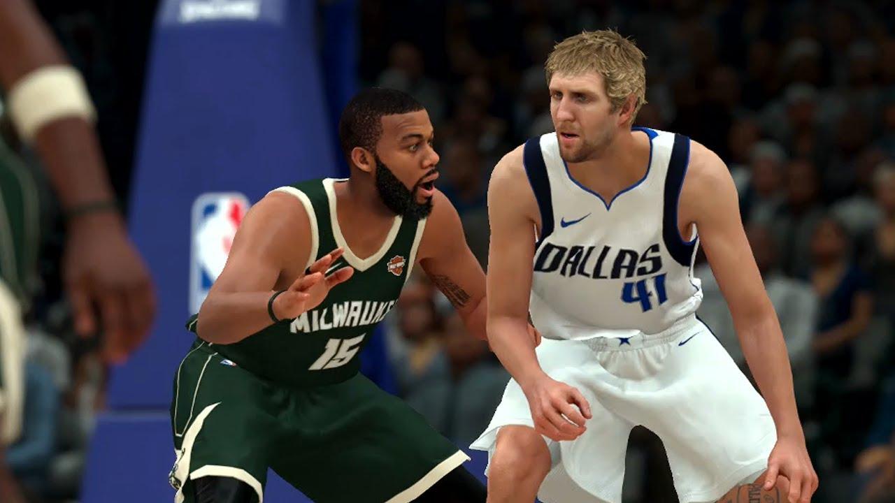 OVERTIME GAME - Dallas Mavericks vs Milwaukee Bucks (NBA 2K18 Gameplay)