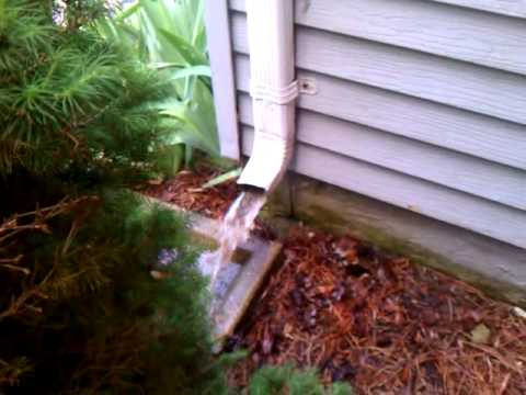 Cleaning clogged gutter downspouts pg county maryland